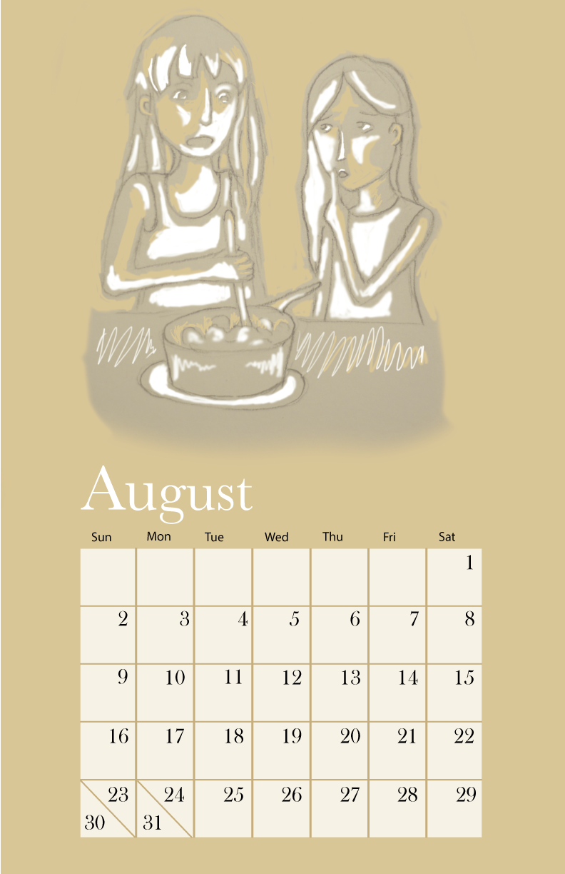 Calendar August page