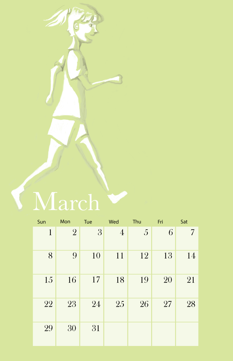 Calendar March page